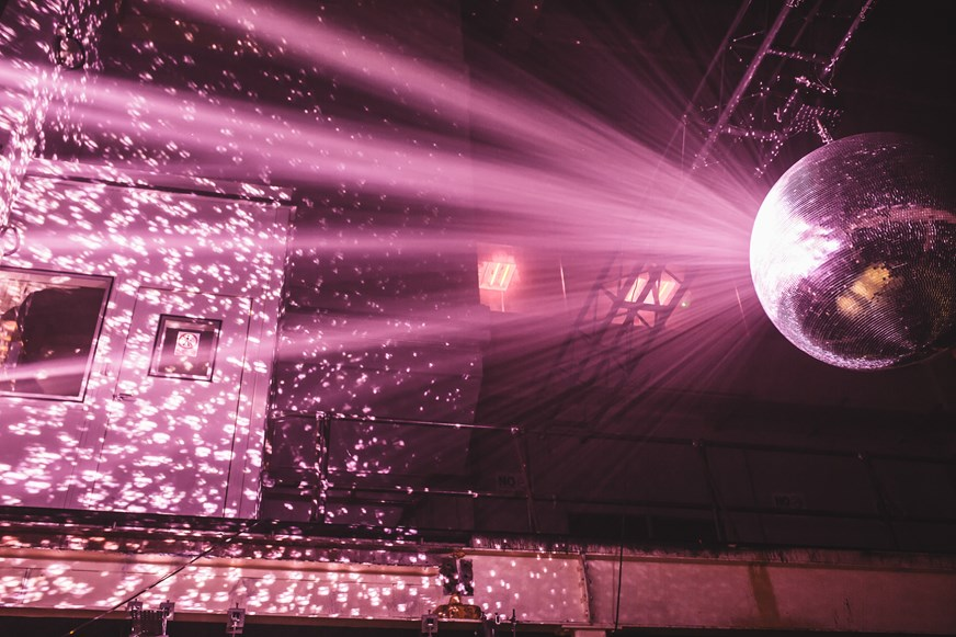 The epic disco ball glistening perfectly in unison with Kerri Chandler's infectious grooves